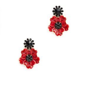 Kate Spade ♠️ red & black earrings